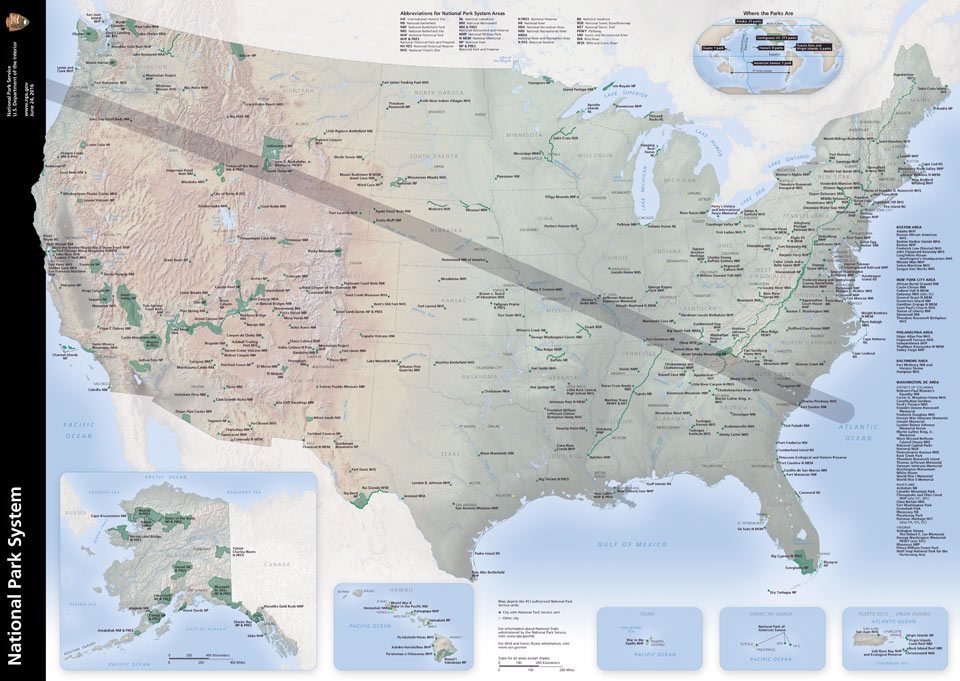 NPS Eclipse Path Map