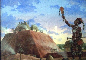 Painting of Great Temple Mound