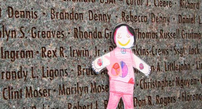 flat Stanley visits the Oklahoma City National Memorial