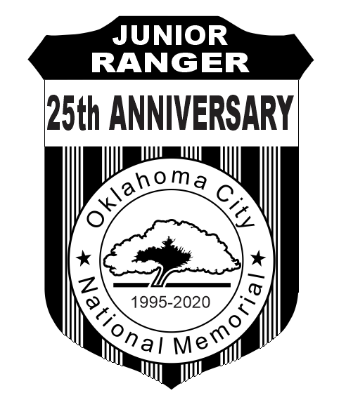 picture of 25th anniversary junior ranger badge