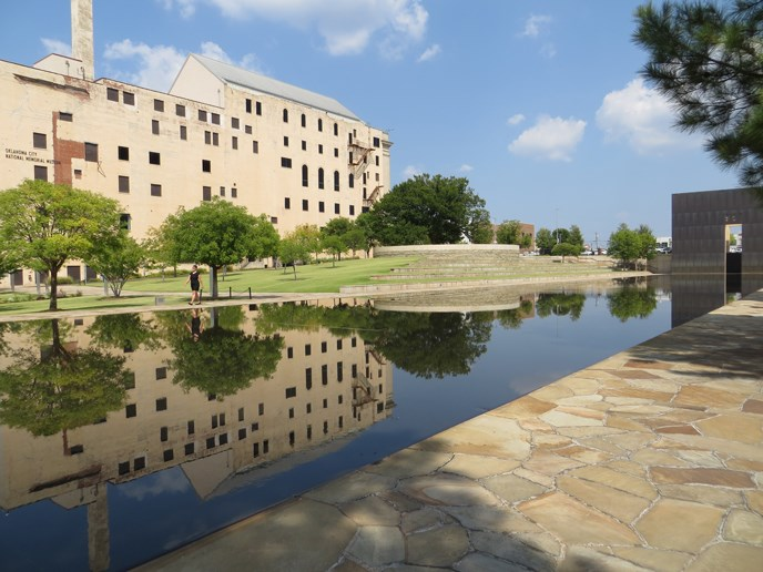 Journal Record Building and the Reflecting Pool