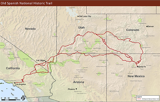 Maps Old Spanish National Historic Trail US National Park