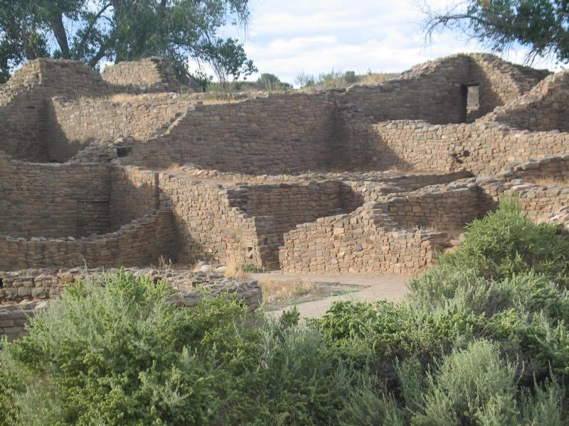 ruins at Aztec Ruins National Monument