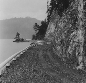 Lake Crescent and highway 101 location dirt road.