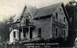 Historic photo of the Anders Nylund home built around 1904