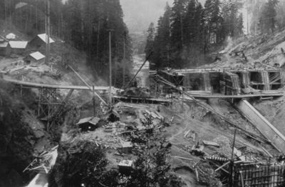 Elwha Dam construction
