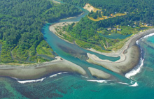 The mouth of the Elwha River