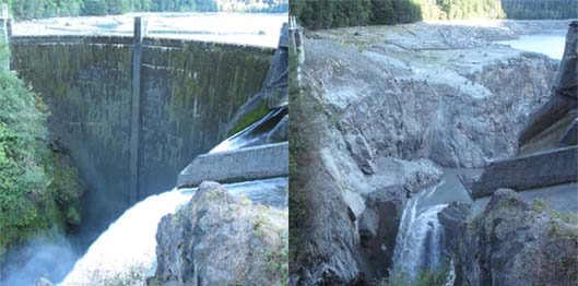 Glines Canyon Dam September 2011 and August 2012