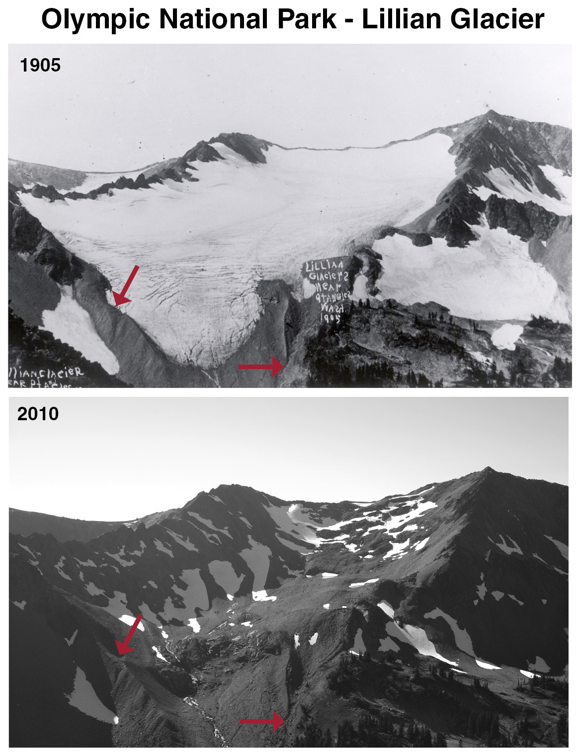 Lillian Glacier 1905-2010 pair