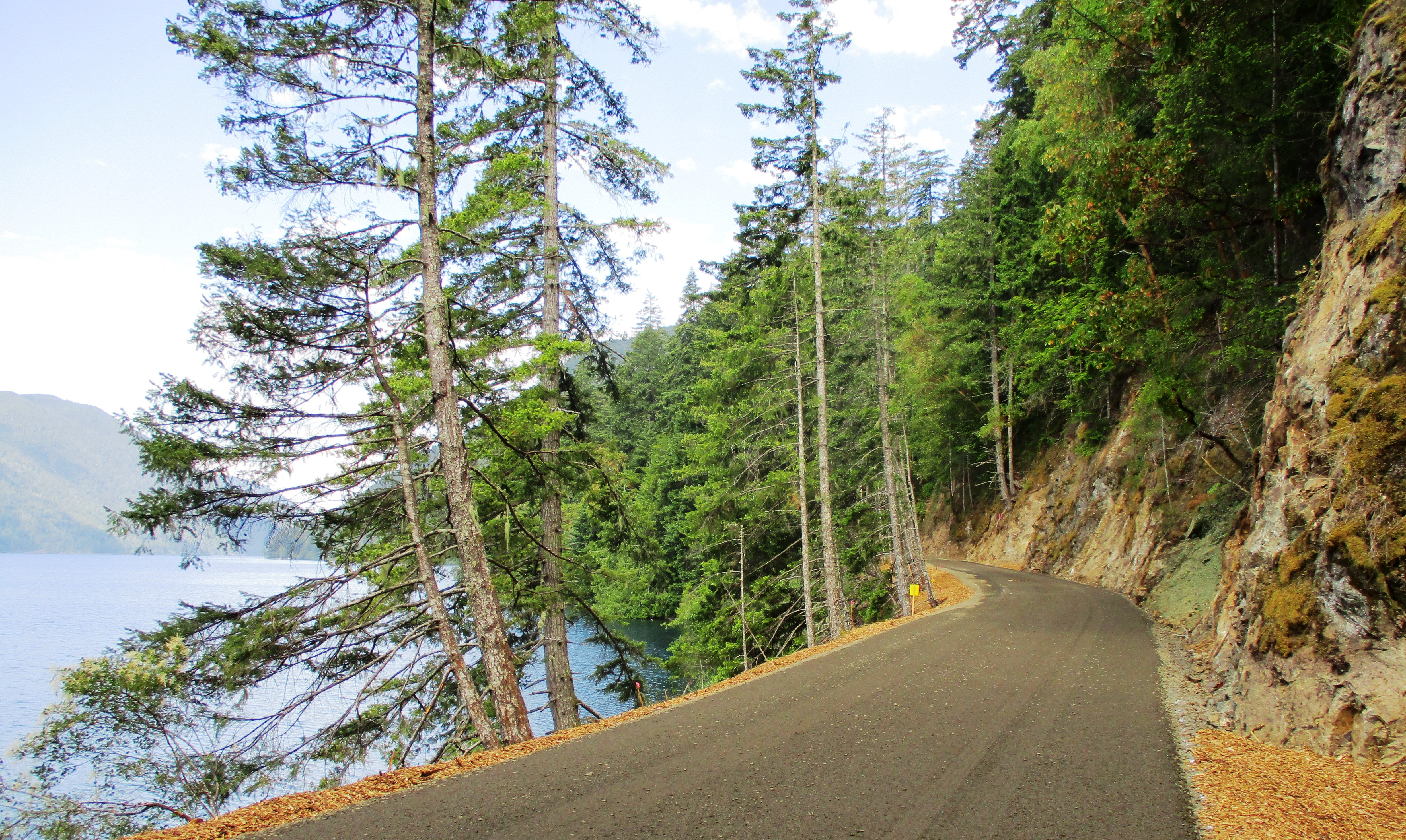 Spruce Railroad Trail along the north shore of Lake Crescent