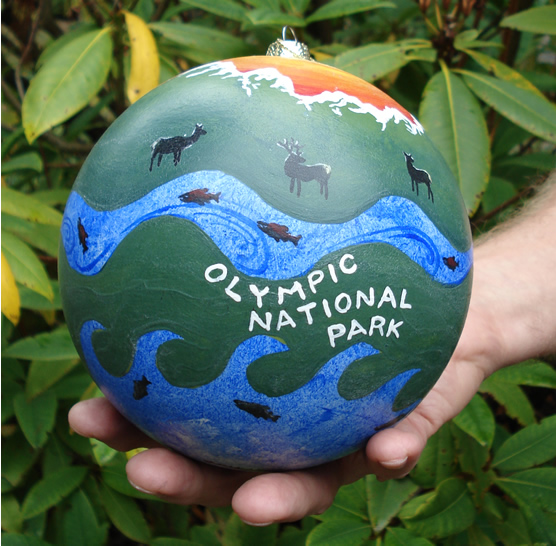 Olympic National Park Christmas ornament
