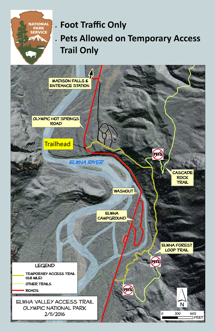 Elwha Valley Pedestrian Access Route Now Available Foot Trail