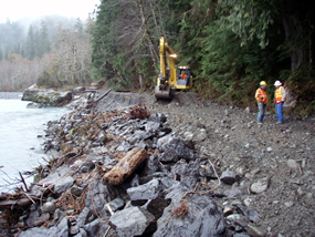 repairing the Quinault South Shore Road