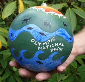Christmas tree ornament with Olympic National Park theme