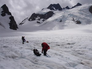 Climber's on Blue Glacier