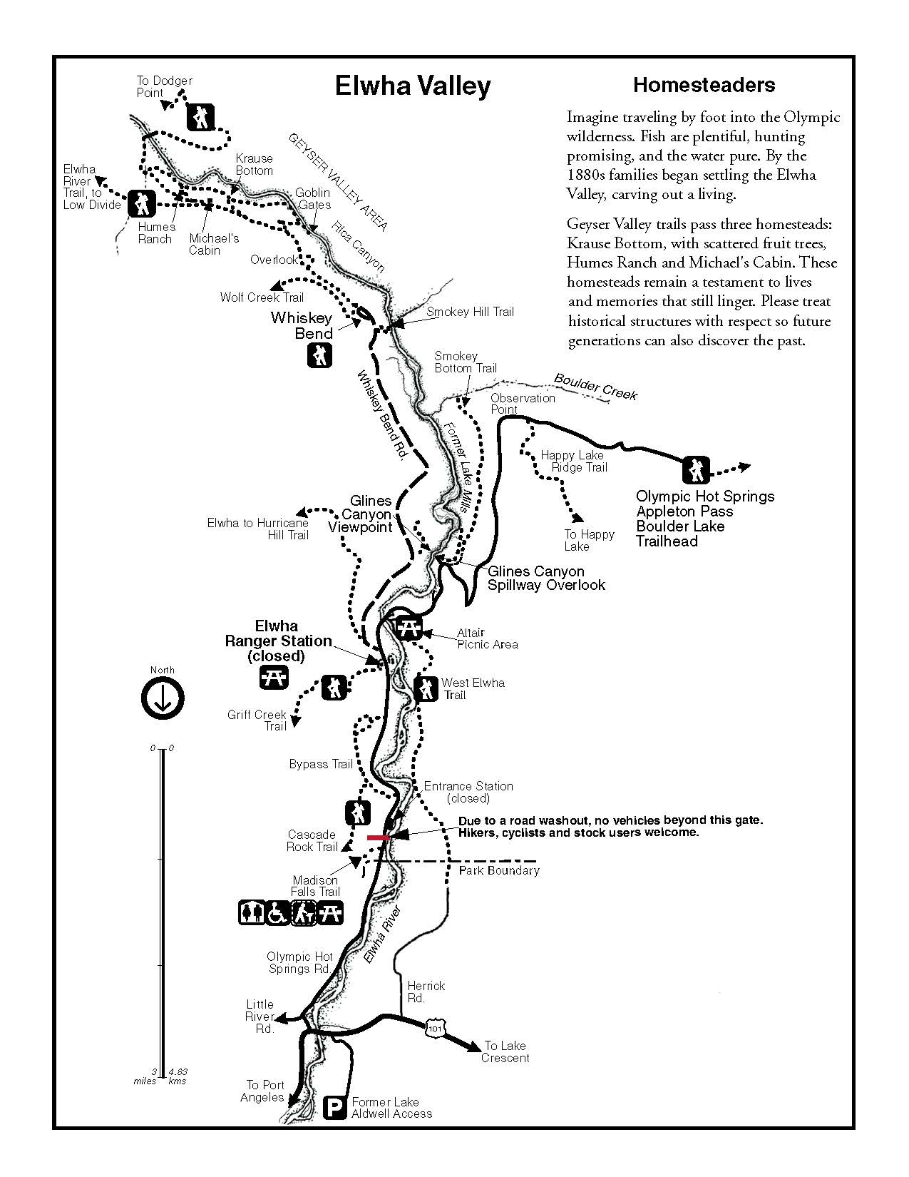 elwha brochure olympic national park u s national park service Ditch Check Dams