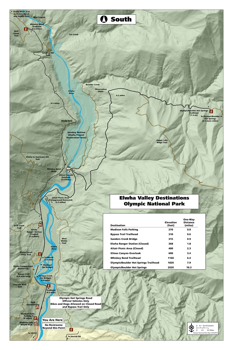 Current Map of Elwha Area Access