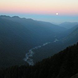 Hoh River from High Divide