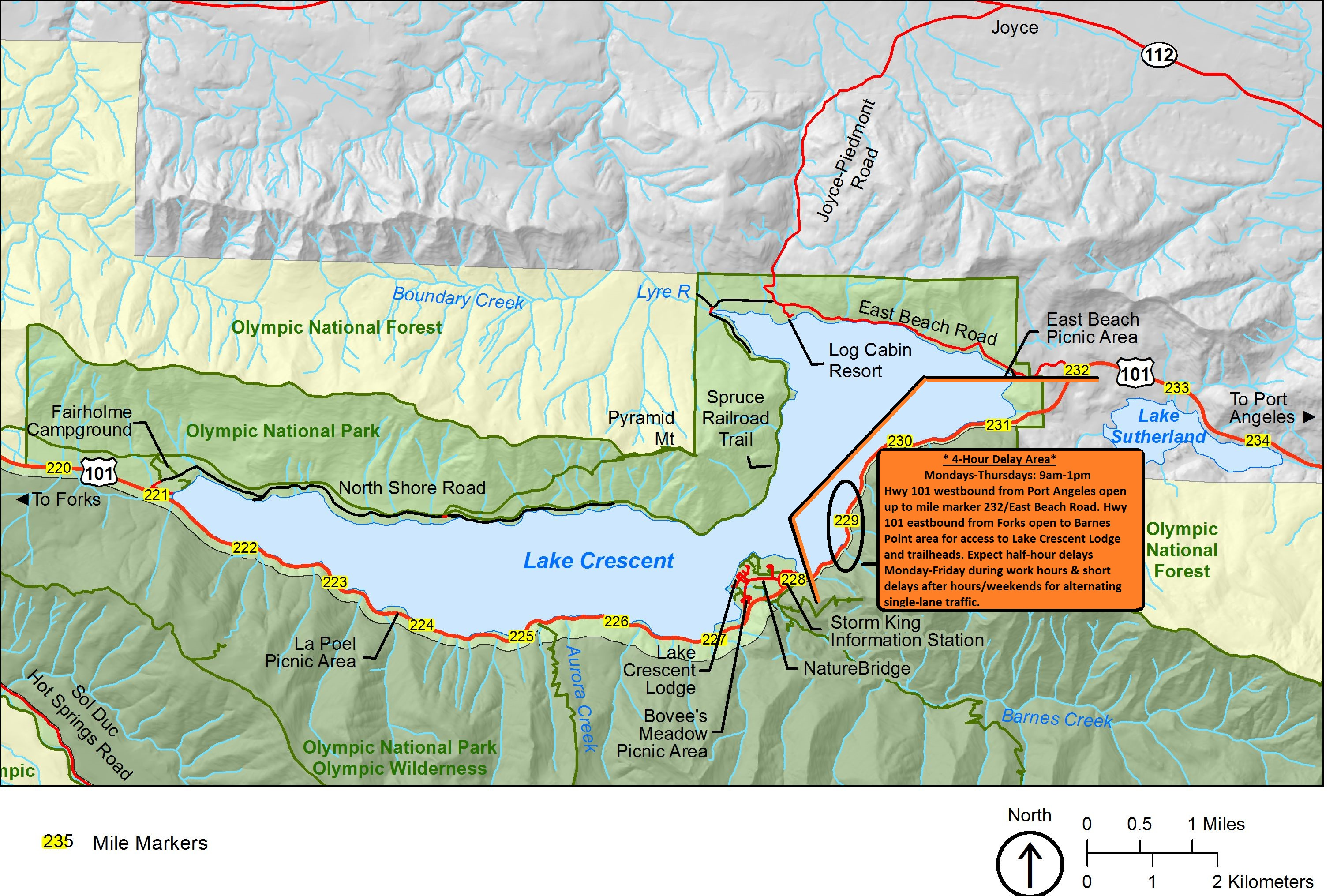 Lake Crescent Highway Rehabilitation Olympic - Us highway 101 map