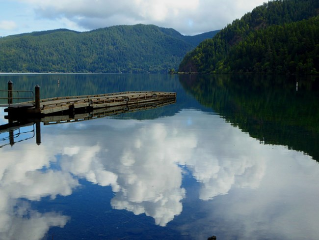 Clouds over Lake Crescent