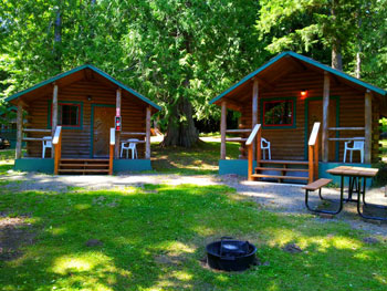 Genial Two Log Cabin Cottages