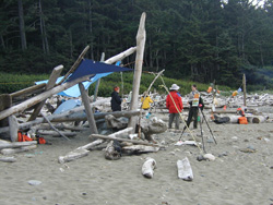 A busy day at Shi Shi Beach