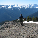 Hiker in Olympic Wilderness
