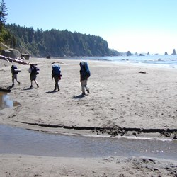 Backpackers At Third Beach