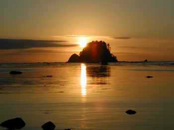 Cape Alava at Sunset