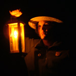 Ranger Steven on the candlelight tour during summer 2006