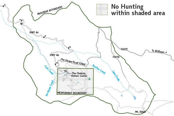 Oregon Caves National Preserve No Hunting Map