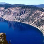 This is a view of Crater Lake.