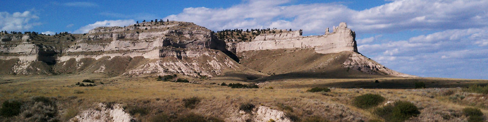 Scotts Bluff National Monument is located in western Nebraska, landmark for the Pony Express, Oregon, California and Mormon Pioneer national historic trails