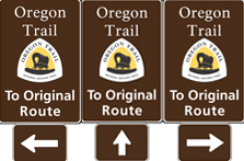 To Original Route banner