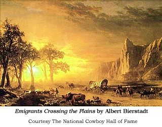 Photo image of the Albert Bierstadt painting
