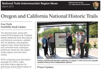 front page of OCTA newsletter showing staff and partners in front of new upright wayside exhibit.