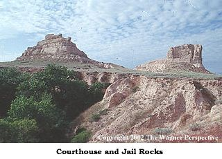 Photo image of Courthouse & Jail Rocks.