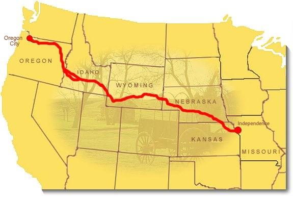 Oregon Trail On Us Map.Maps Oregon National Historic Trail U S National Park Service