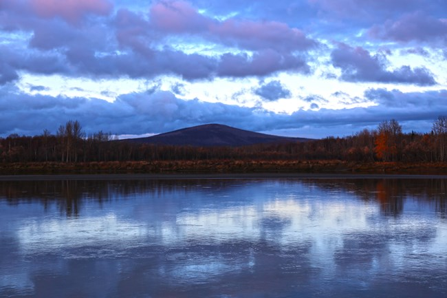 A hill rising above the Kuskokwim River
