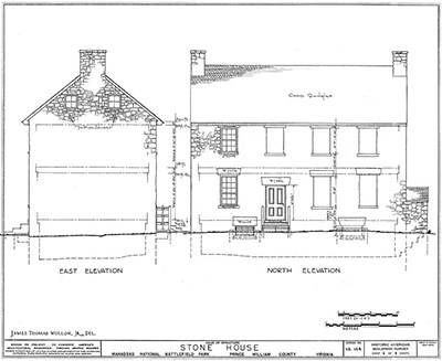 Elevation drawings for the Stone House