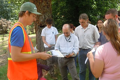 Natural Resources staff hold planning meeting at Rock Creek Park