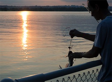 Subsistence fishing on the Potomac River