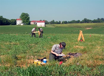 Archeologists at Monocacy National Battlefield