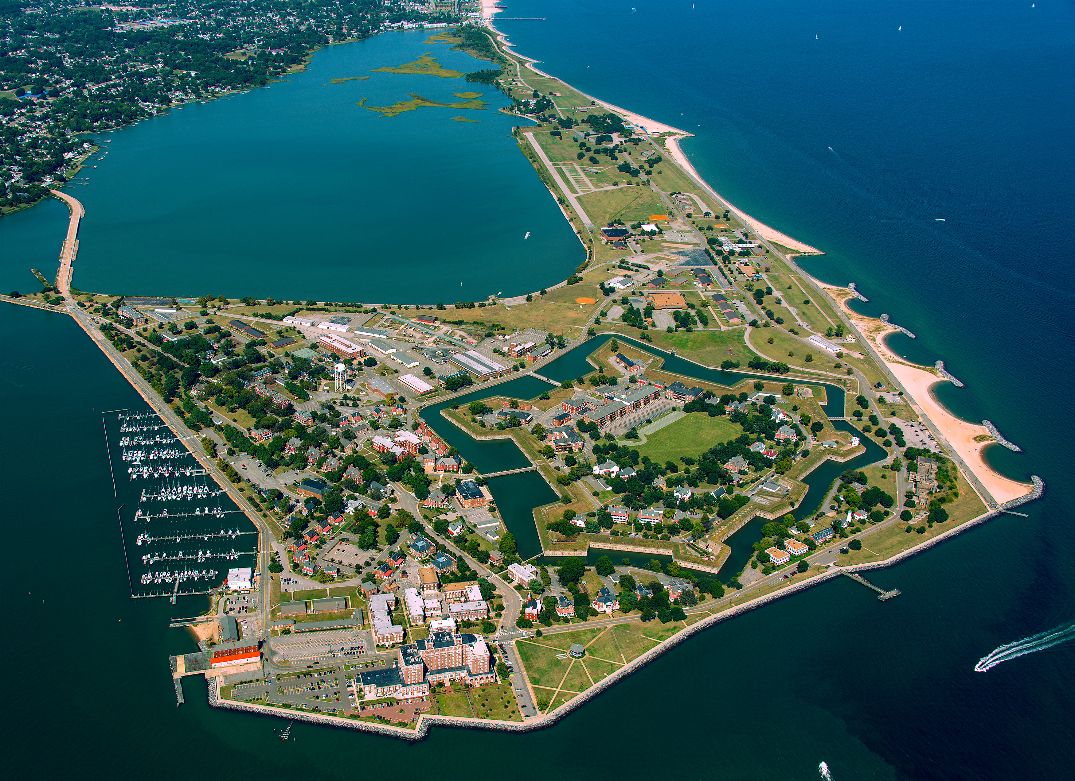Aerial View of Fort Monroe