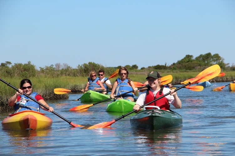 Ranger Led Kayak tour through Assateague's marsh