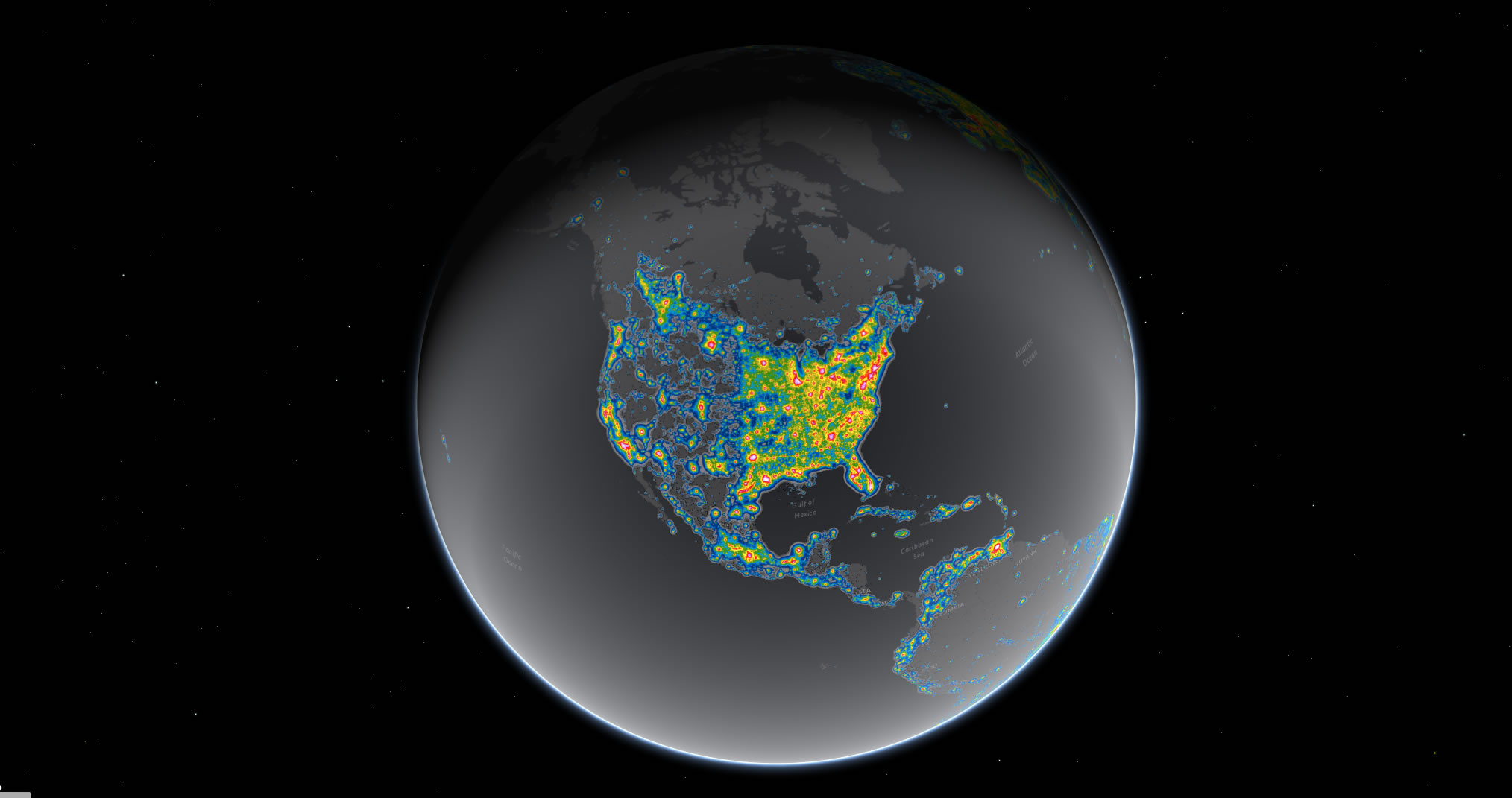 New Study Shows Extent Of Light Pollution Across The Night Sky - Night sky map now