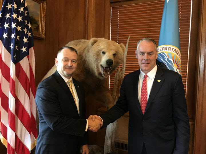 Secretary Zinke and Cam Sholly