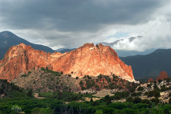 A view of the mountains at Garden of the Gods NNL.