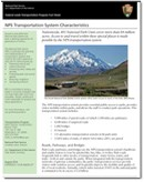 Download factsheet for Transportation System Characteristics