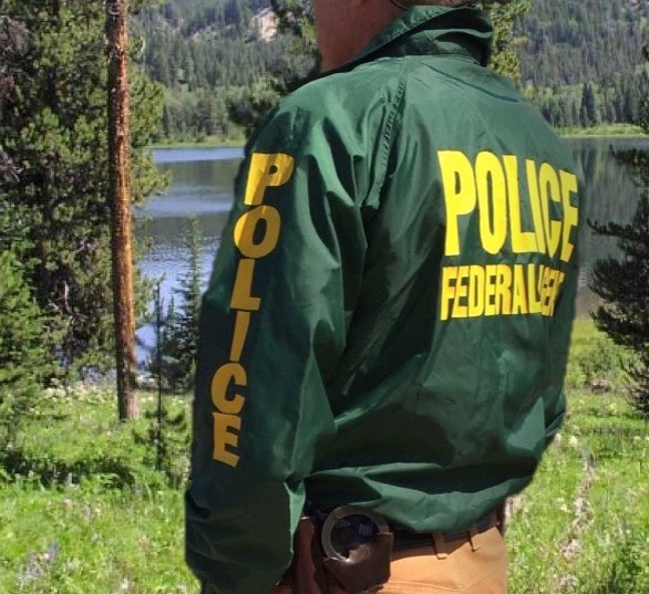 An ISB Special Agent in the field. NPS image by the Investigative Services Branch.